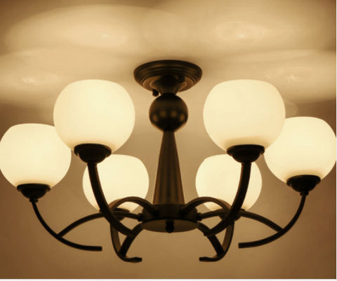 6 light modern glass lampshade