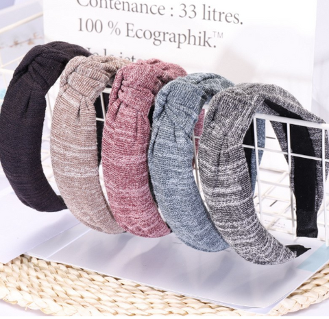 Heather knot headbands
