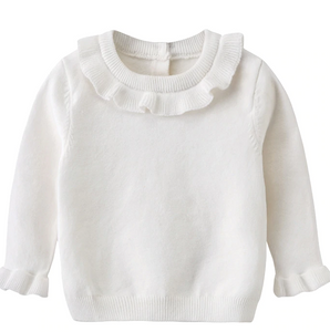 Winter white ruffle sweater