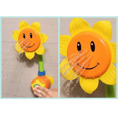 Sunflower shower faucet