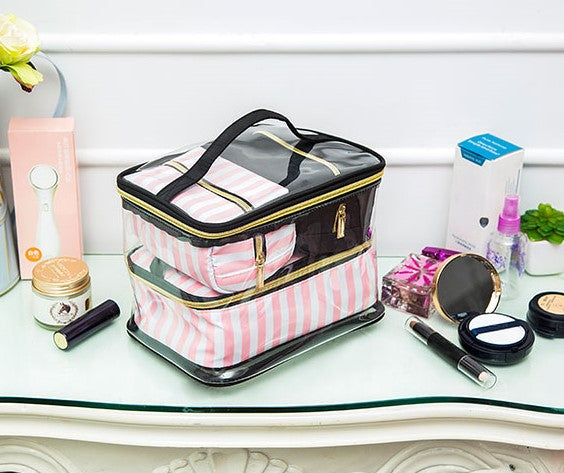 4 pc cosmetic bag set