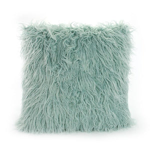 Fur front pillowcase