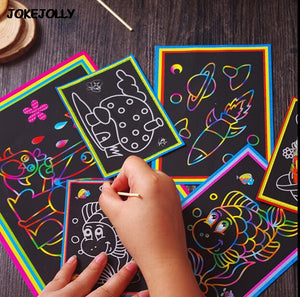 10 pk magic color scratch art