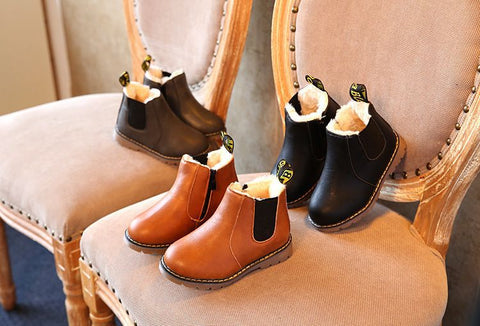 Fur lined booties (also available without fur)