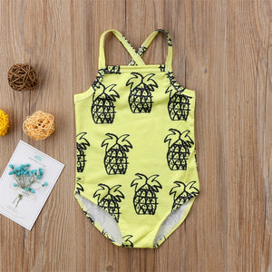 Pineapple swim suit