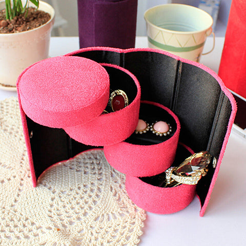 Cylinder Roll up jewelry box