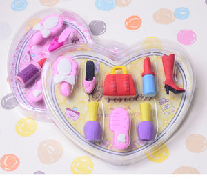8 pc cosmetic eraser set