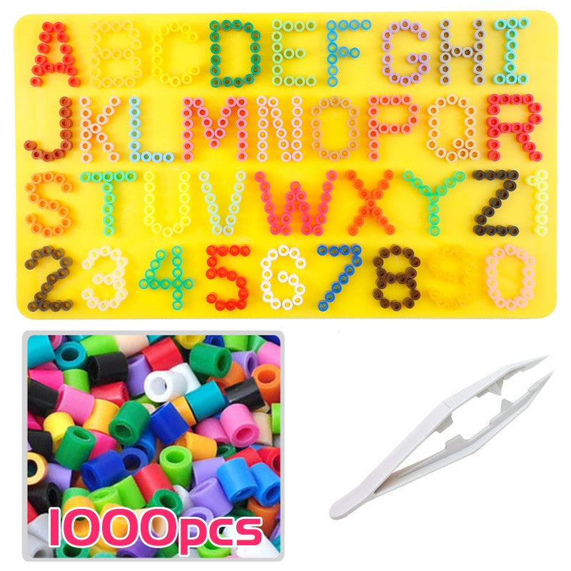 Alpha numeric pegboard with 1000 beads