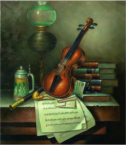 Violin diamond painting