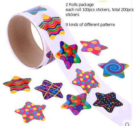 2 rolls star stickers