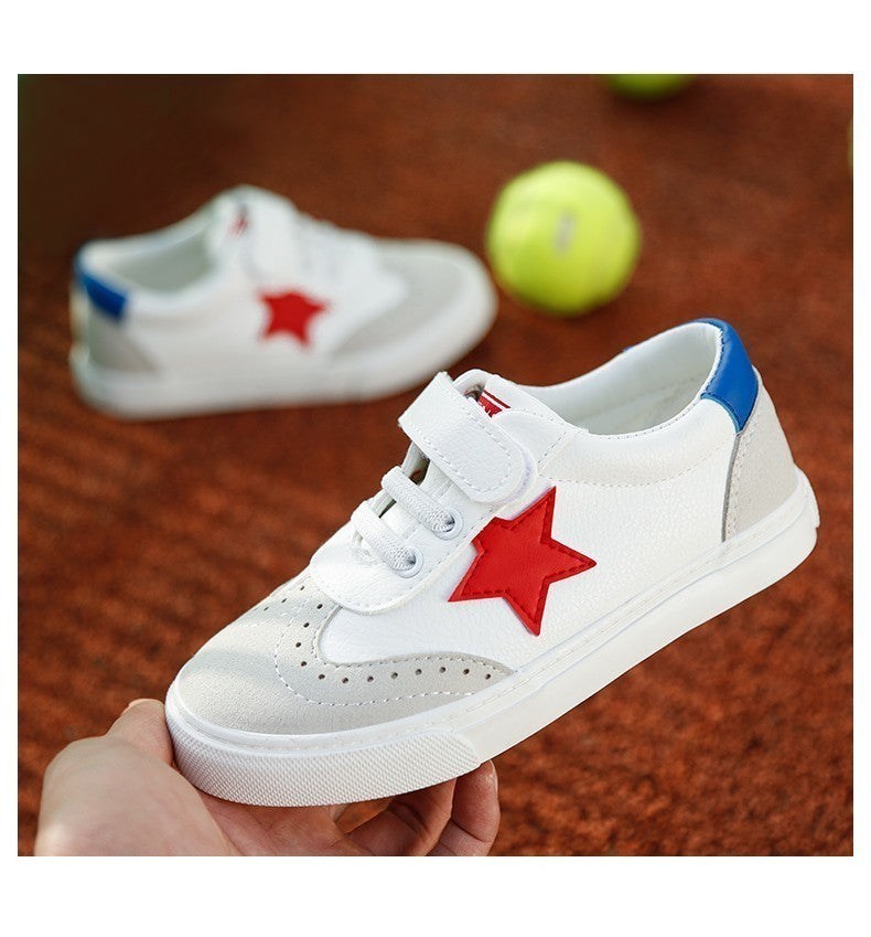 Leather star sneakers