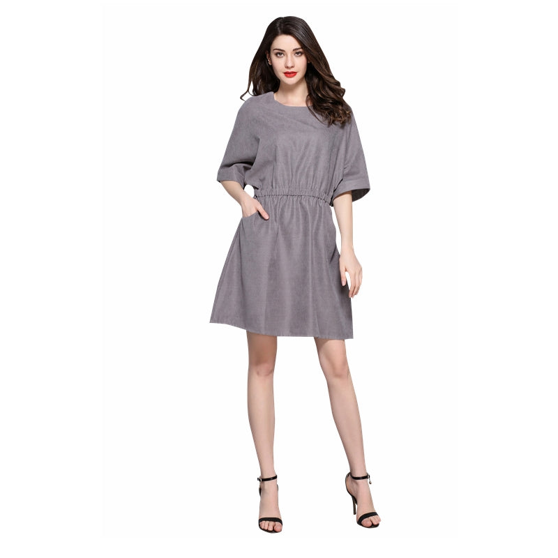 Batwing waisted dress