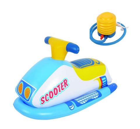 Inflatable pool scooter