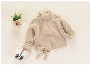 Chunky knit bow sweater
