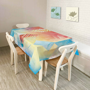 Colored tablecloth