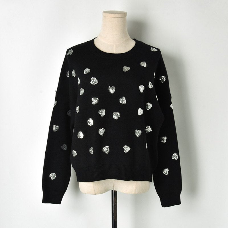 Sequin hearts sweater