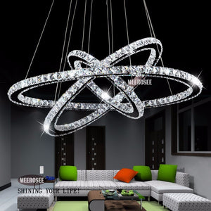Crystal rings light fixture