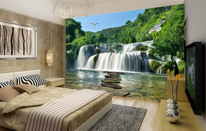 Waterfall scenery background