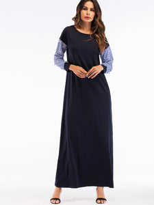 Pearl sleeve maxi dress
