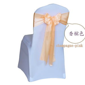 Satin chair sash 25 pcs