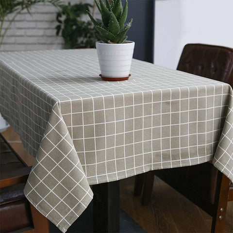 Grid tablecloth