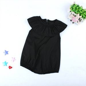 Black ruffle bubble
