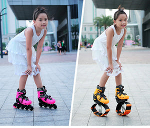 2 in 1 bouncing and roller skate shoes