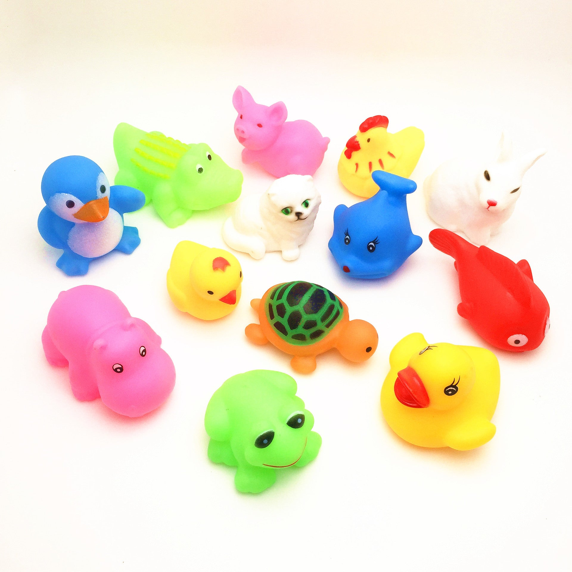 13 pc bath animals
