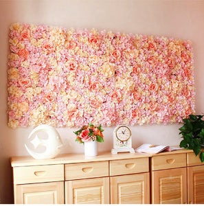 Flower wall panel