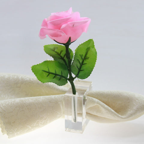 4 pc acrylic vase napkin ring