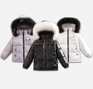 MC Fur hood puffer coat