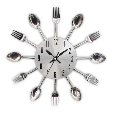 Kitchen cutlery clock