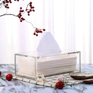 Acrylic tissue box holder