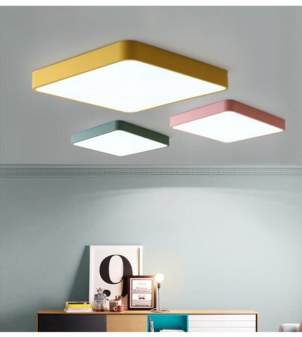 Modern colored ceiling lamp