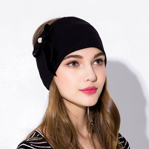 Velvet bow headwrap