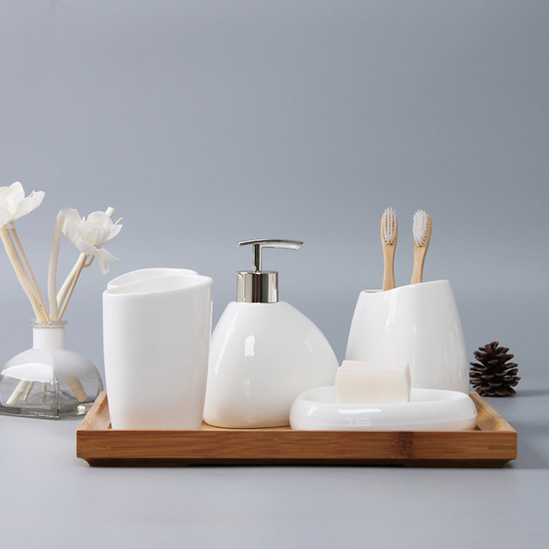 6 pc modern ceramic bathroom set