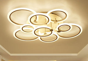 LED modern circle lighting