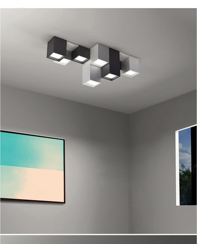 Modern square LED light fixture