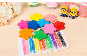 12 pc flower crayons