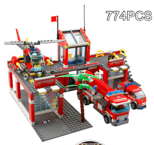 774  pc fire station blocks