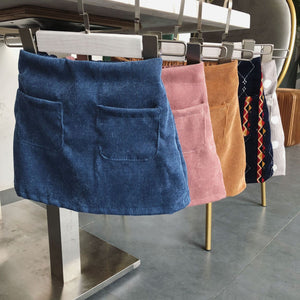 2 pocket corduroy skirt