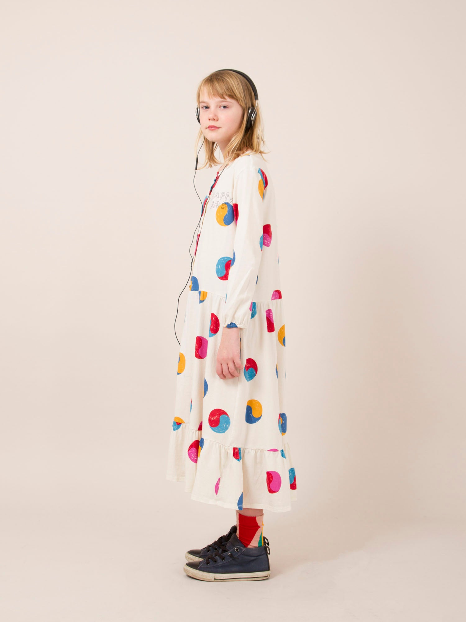 Bobo Choses printed flounce dress