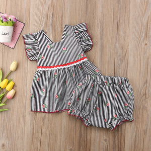 Striped floral set