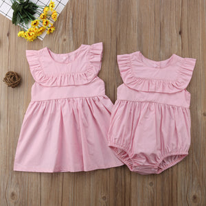 Ruffle romper/dress
