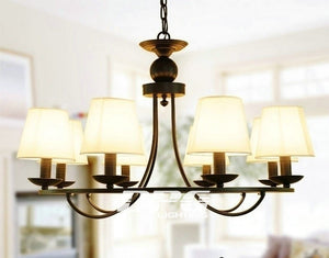 Iron lampshade lighting