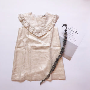 Metallic ruffle dress