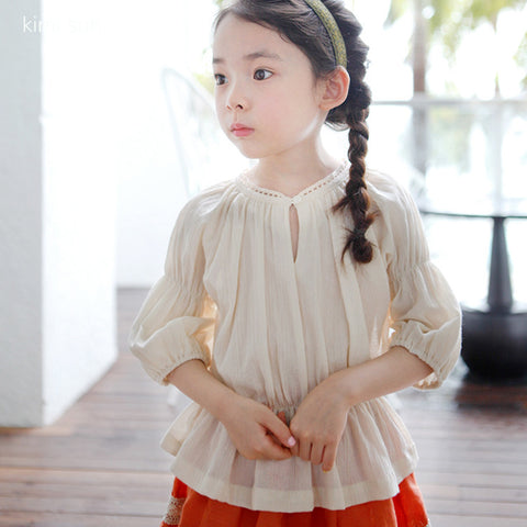 Pleated blouse