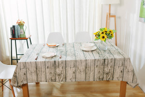 Wood look tablecloth