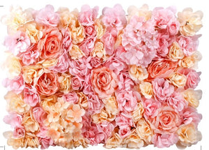 Flower backdrop panel