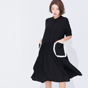Large pockets dress